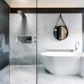 Award-winning monochromatic Bathroom by Minosa Design