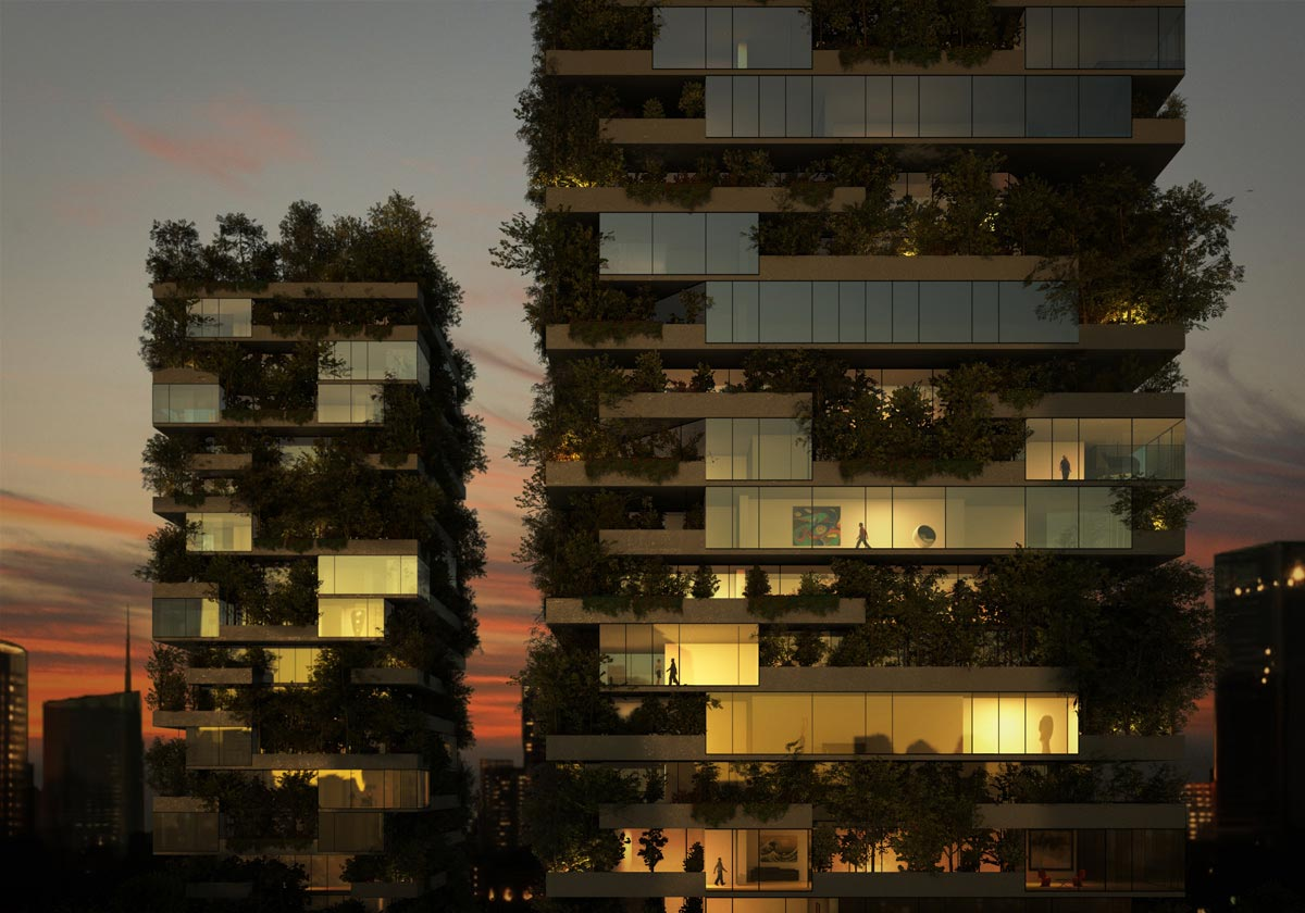 Mailand 39 s bosco verticale x vertical forest by stefano boeri for Bosco verticale architetto