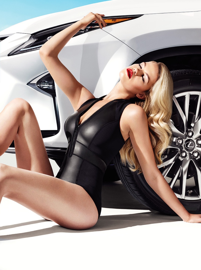 Hailey Clauson for New Lexus Campaign 3