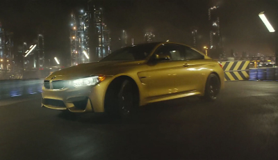 BMW M4 Drifting Across Factory-Racetrack
