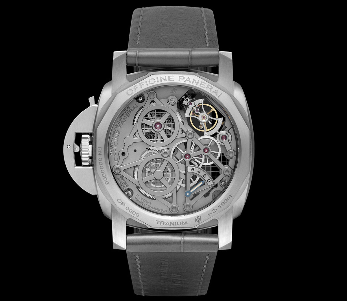 Lo Scienziato – The Luminor 1950 Tourbillon GMT Titanio 2