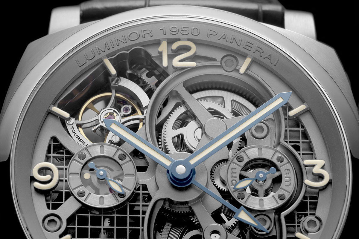 Lo Scienziato – The Luminor 1950 Tourbillon GMT Titanio 4