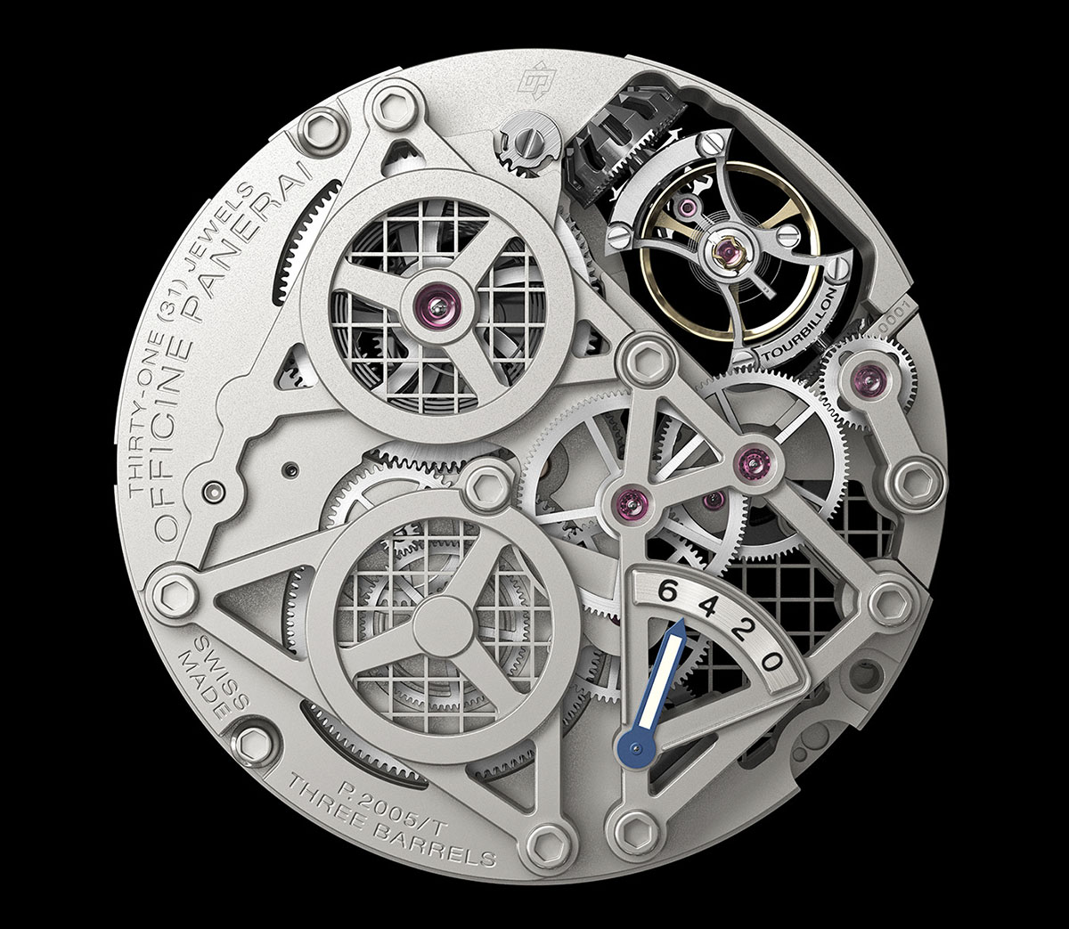 Lo Scienziato – The Luminor 1950 Tourbillon GMT Titanio 5
