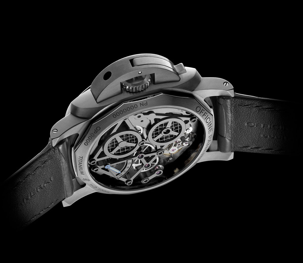 Lo Scienziato – The Luminor 1950 Tourbillon GMT Titanio 6
