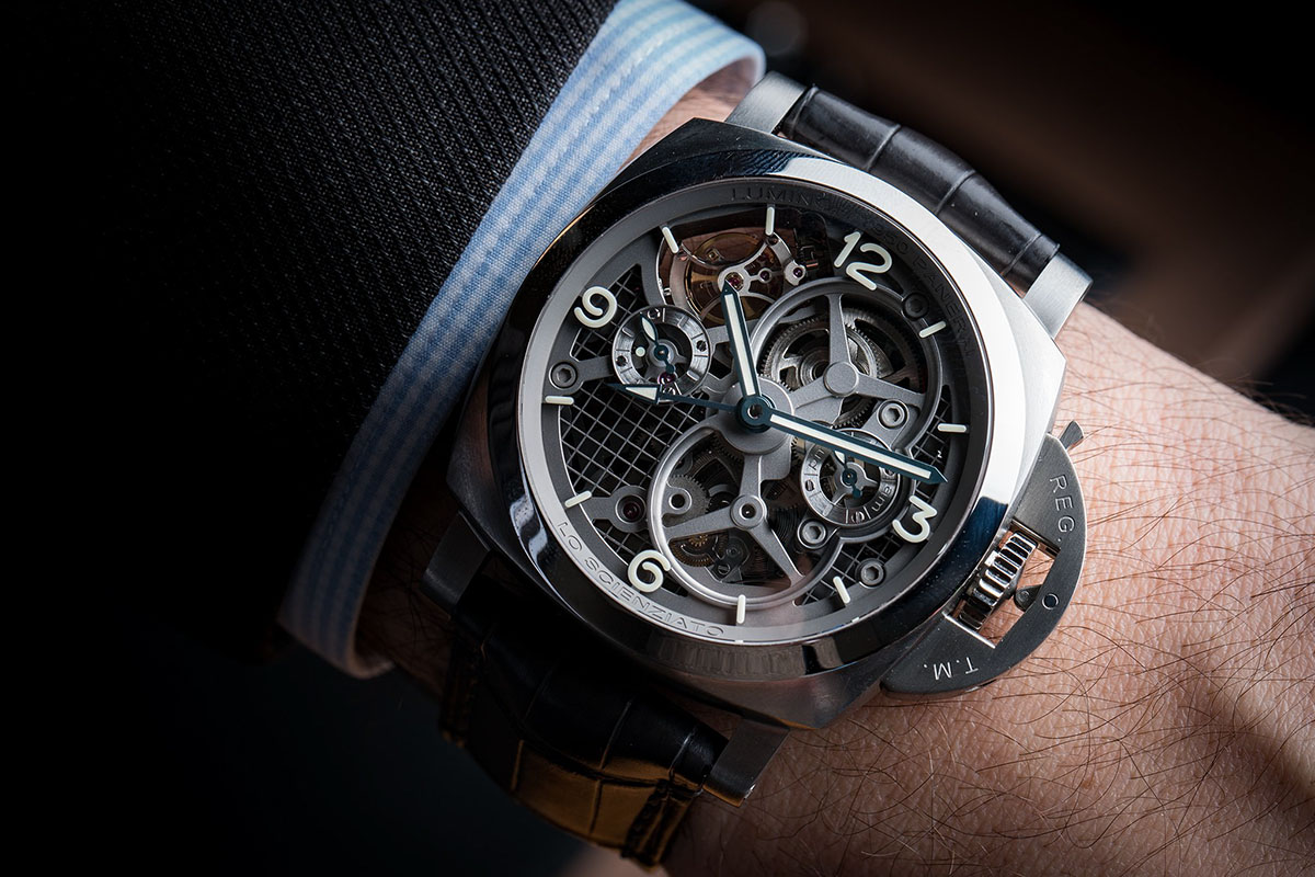 Lo Scienziato – The Luminor 1950 Tourbillon GMT Titanio 7