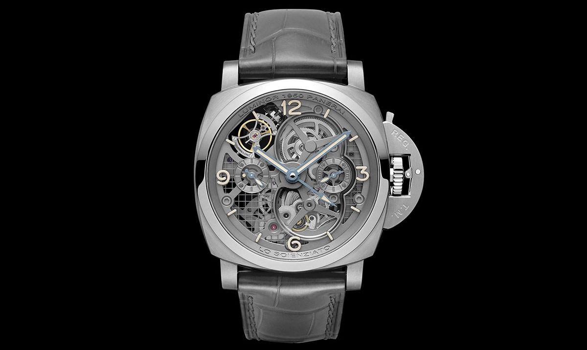 Lo Scienziato – The Luminor 1950 Tourbillon GMT Titanio 1