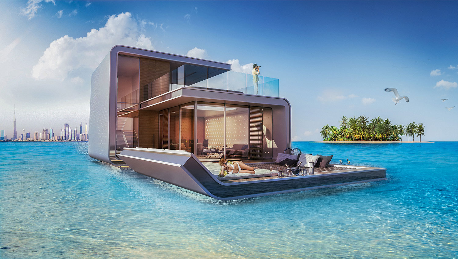 Dubai's First Floating Underwater Apartments 1