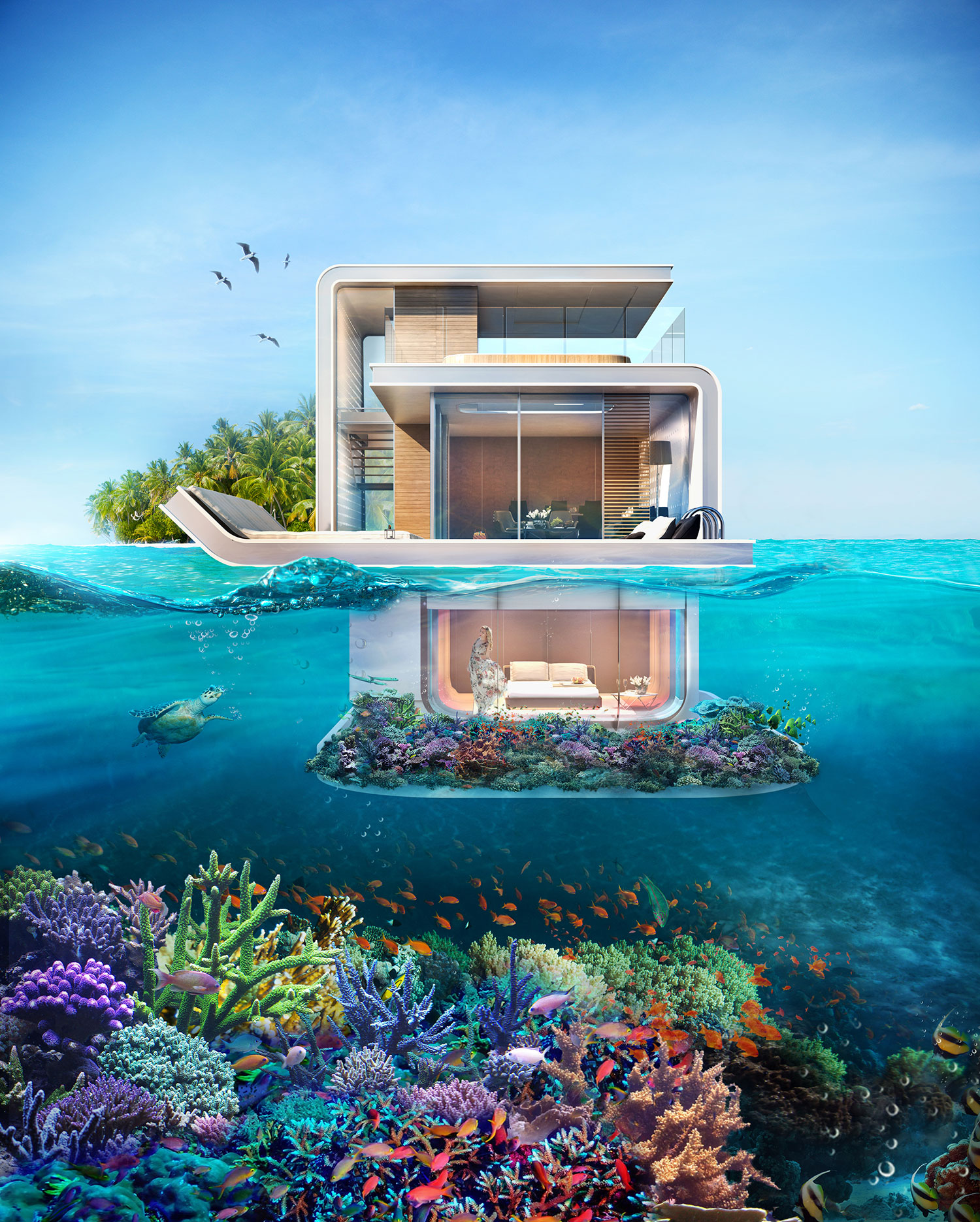 Dubai's First Floating Underwater Apartments 5