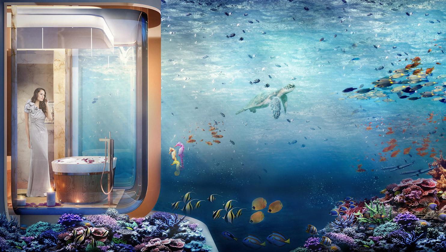 Dubai S First Floating Underwater Apartments Mr Goodlife