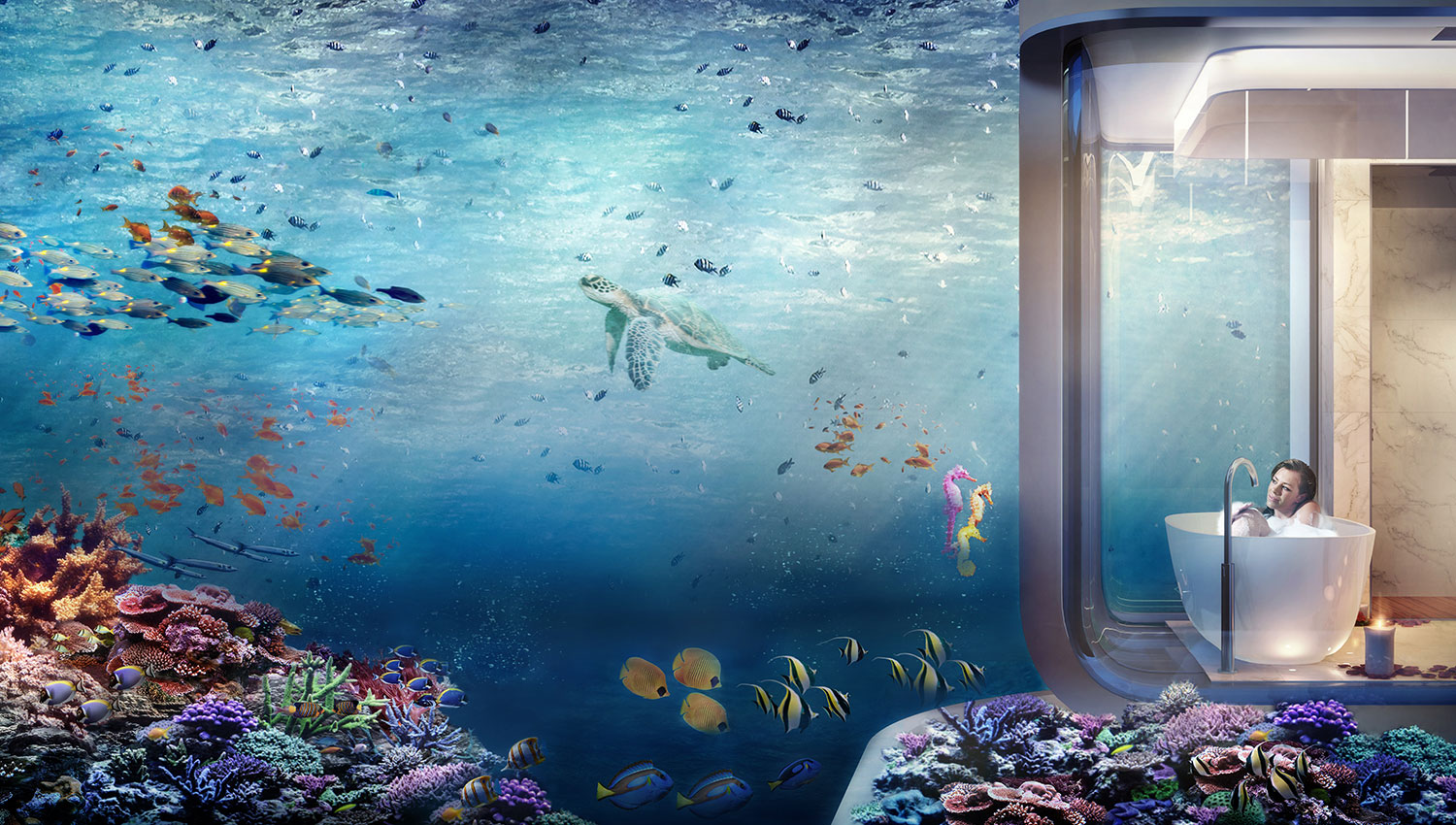 Dubai's First Floating Underwater Apartments 15