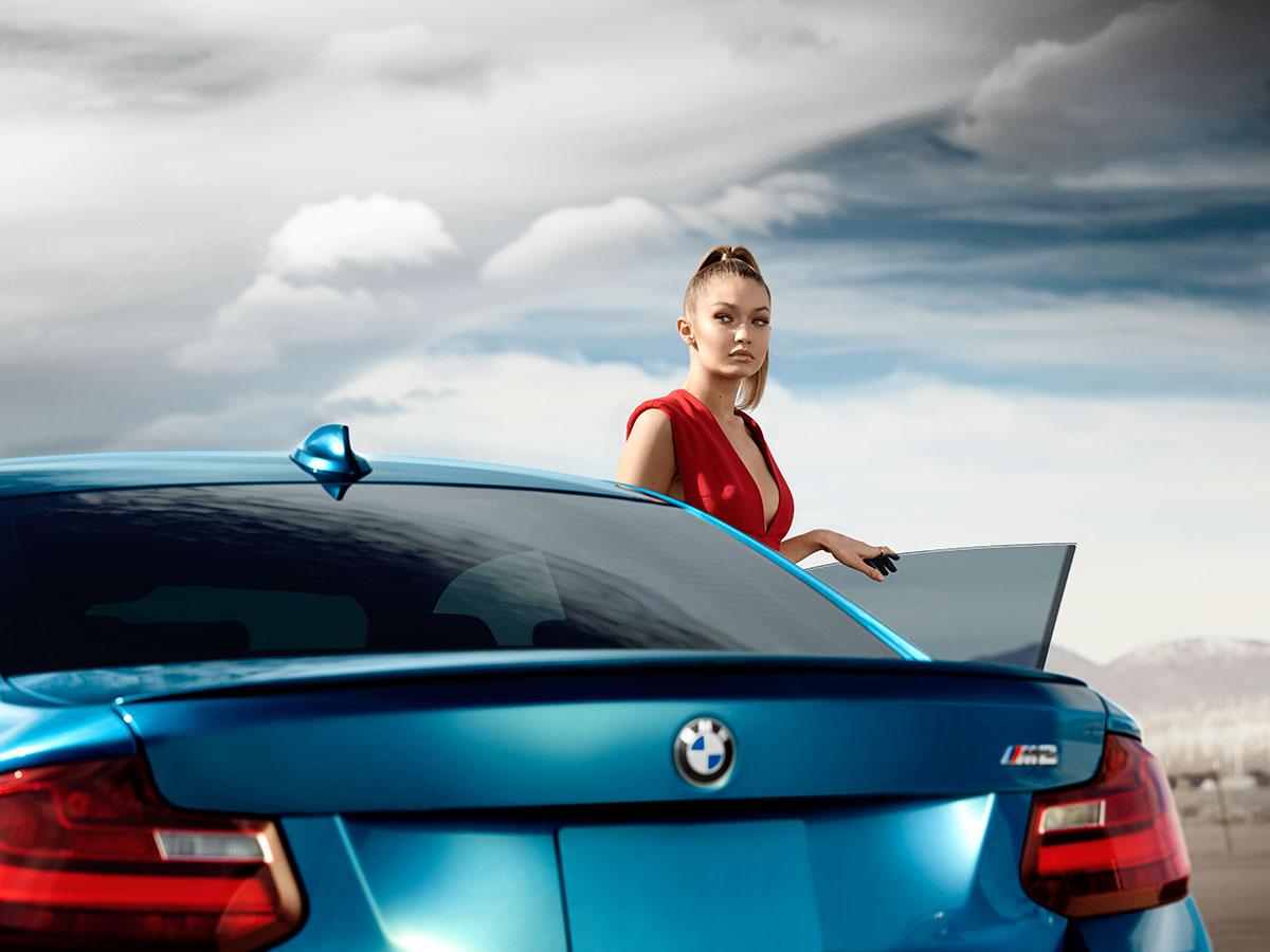 All 'Eyes On Gigi' for the new BMW M2 Coupé 4