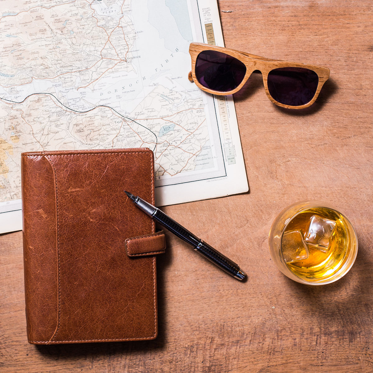 Stylish Sunglasses Made From Original Whisky Casks 3