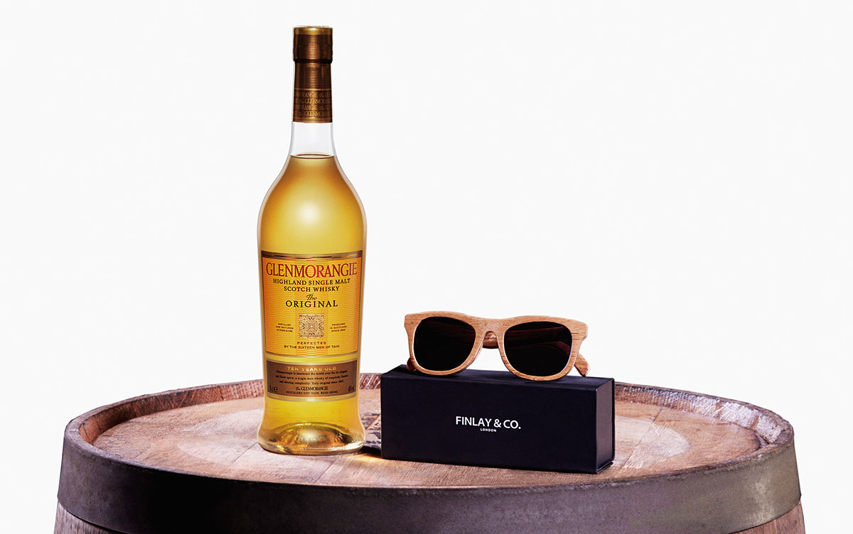 Stylish Sunglasses Made From Original Whisky Casks 1