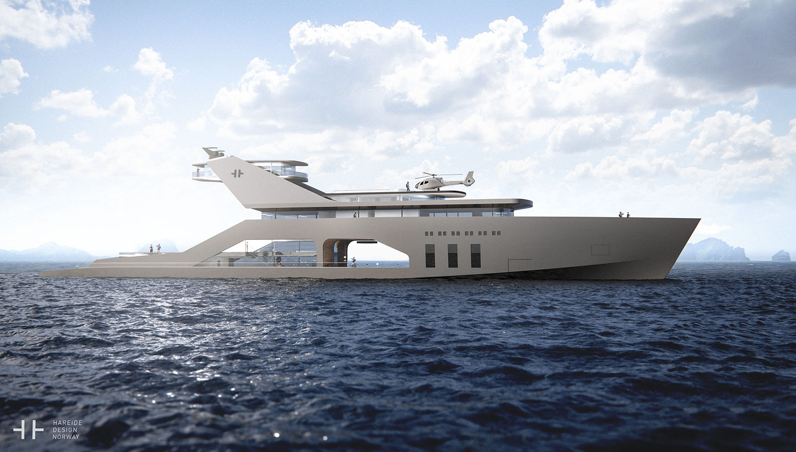 The 108M Luxury Yacht Concept With It's Own Private Beach 3