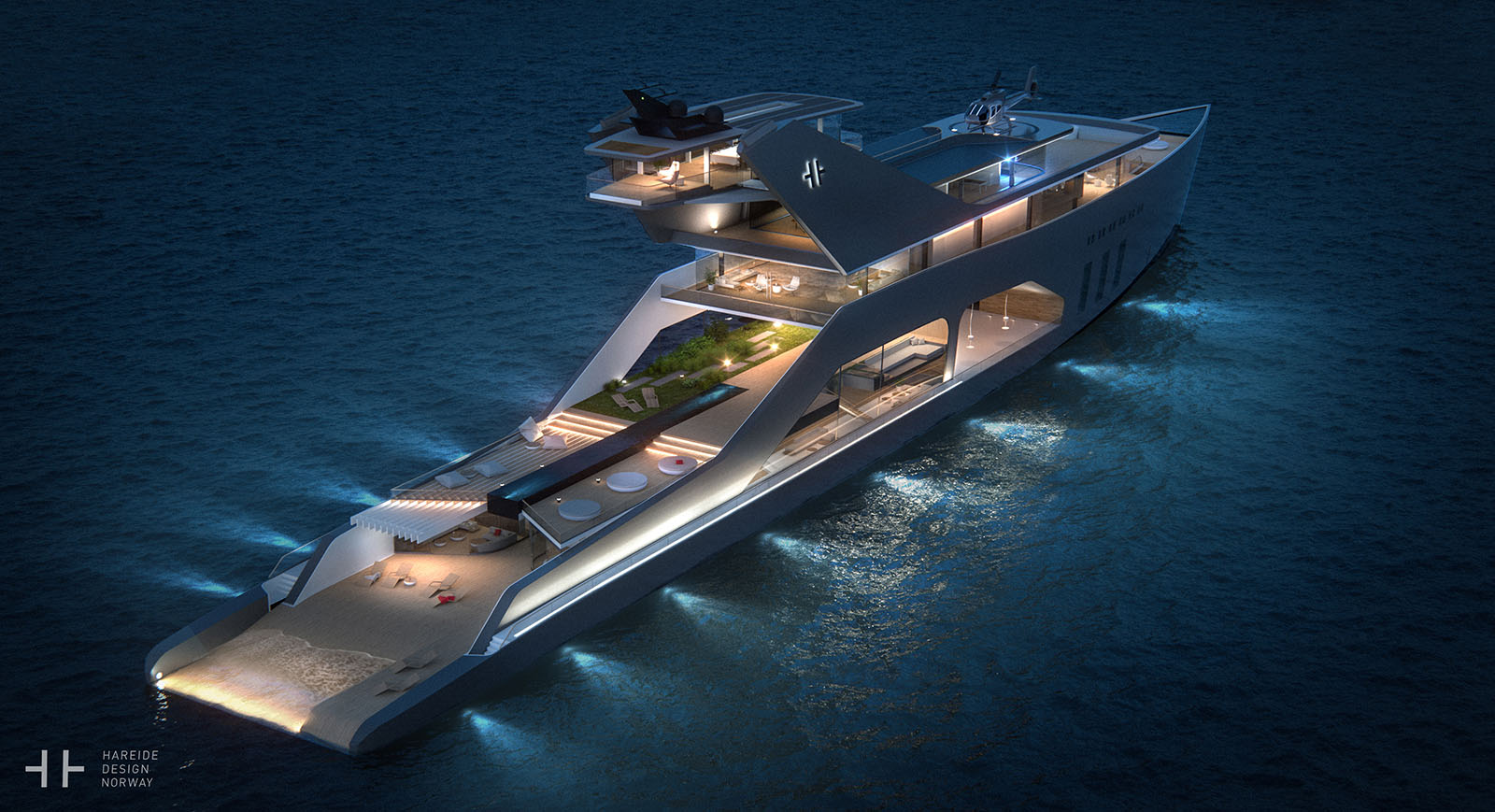 The 108M Luxury Yacht Concept With It's Own Private Beach 1
