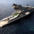 The 108M Luxury Yacht Concept With It's Own Private Beach
