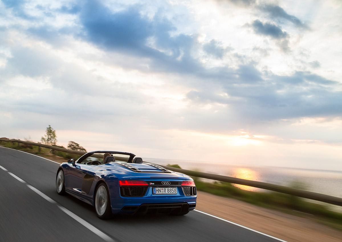 Zerzaustes Haar Im Neuen Audi R8 Spyder 6