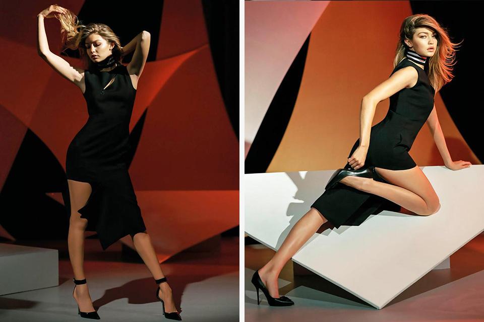 Gigi Hadid posiert im Evakostüm für Versace 3