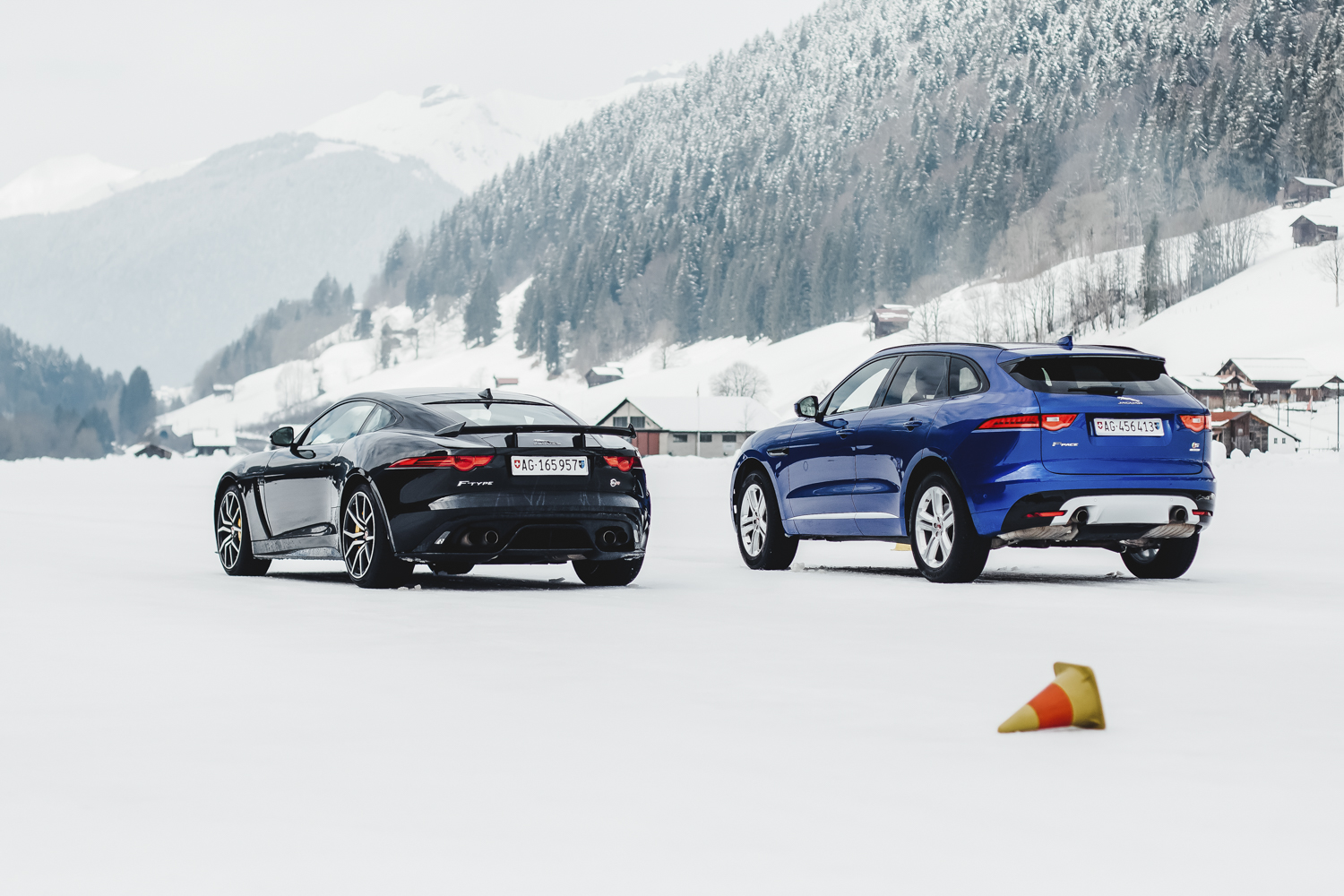 Die Jaguar Land Rover Ice Driving Experience in Gstaad 20