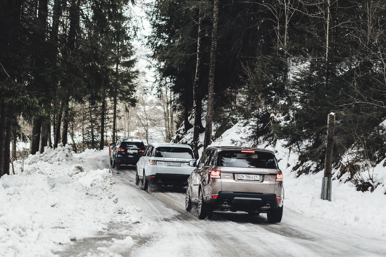 Die Jaguar Land Rover Ice Driving Experience in Gstaad 12