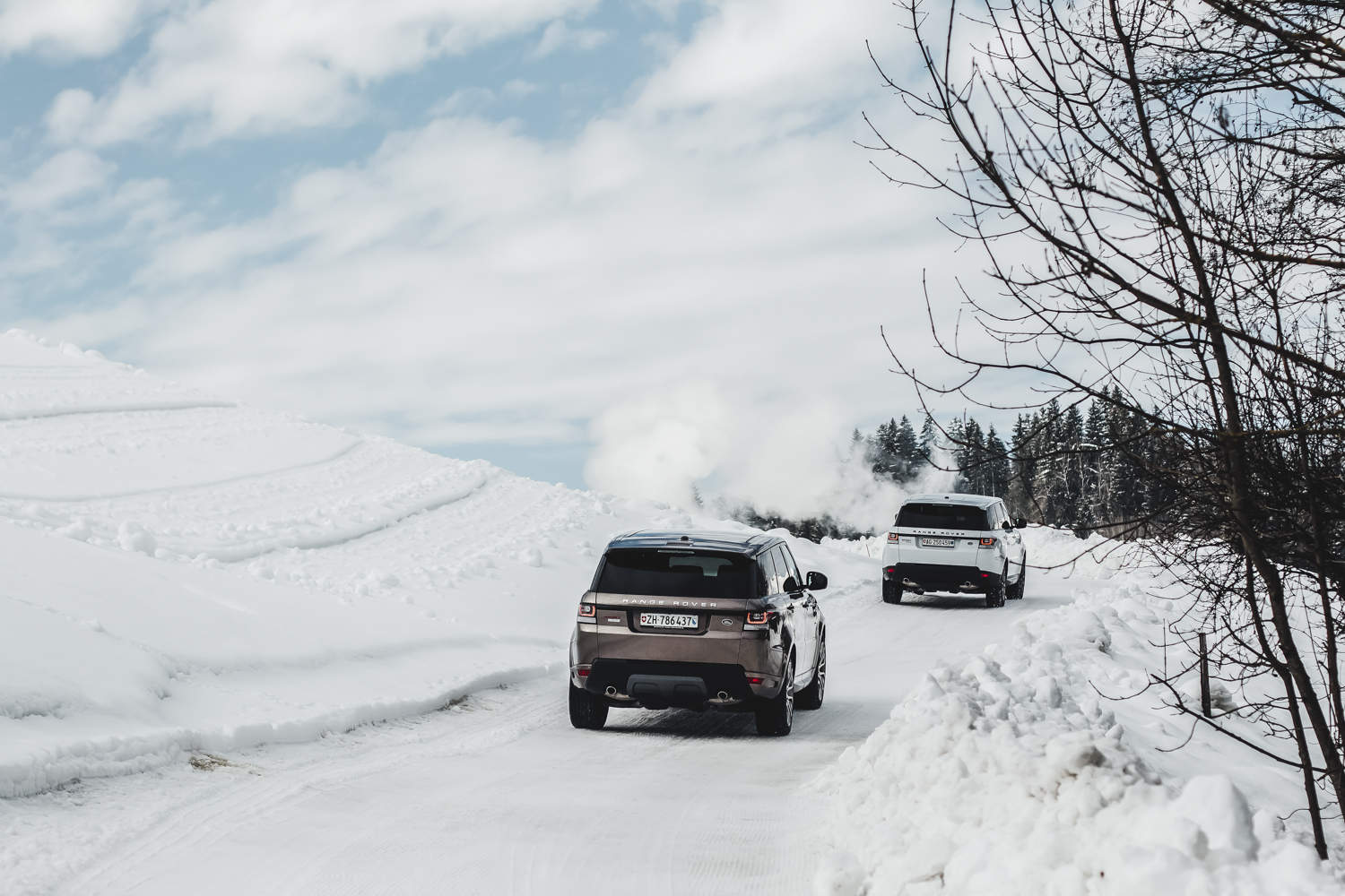 Die Jaguar Land Rover Ice Driving Experience in Gstaad 10