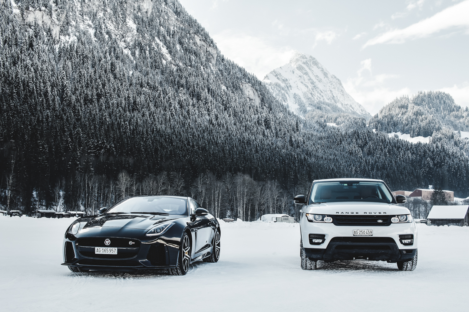 Die Jaguar Land Rover Ice Driving Experience in Gstaad 2
