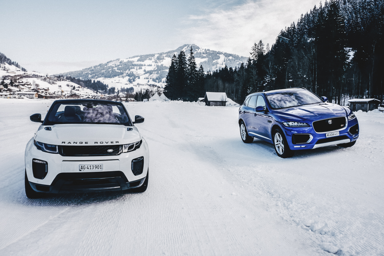 Die Jaguar Land Rover Ice Driving Experience in Gstaad 26