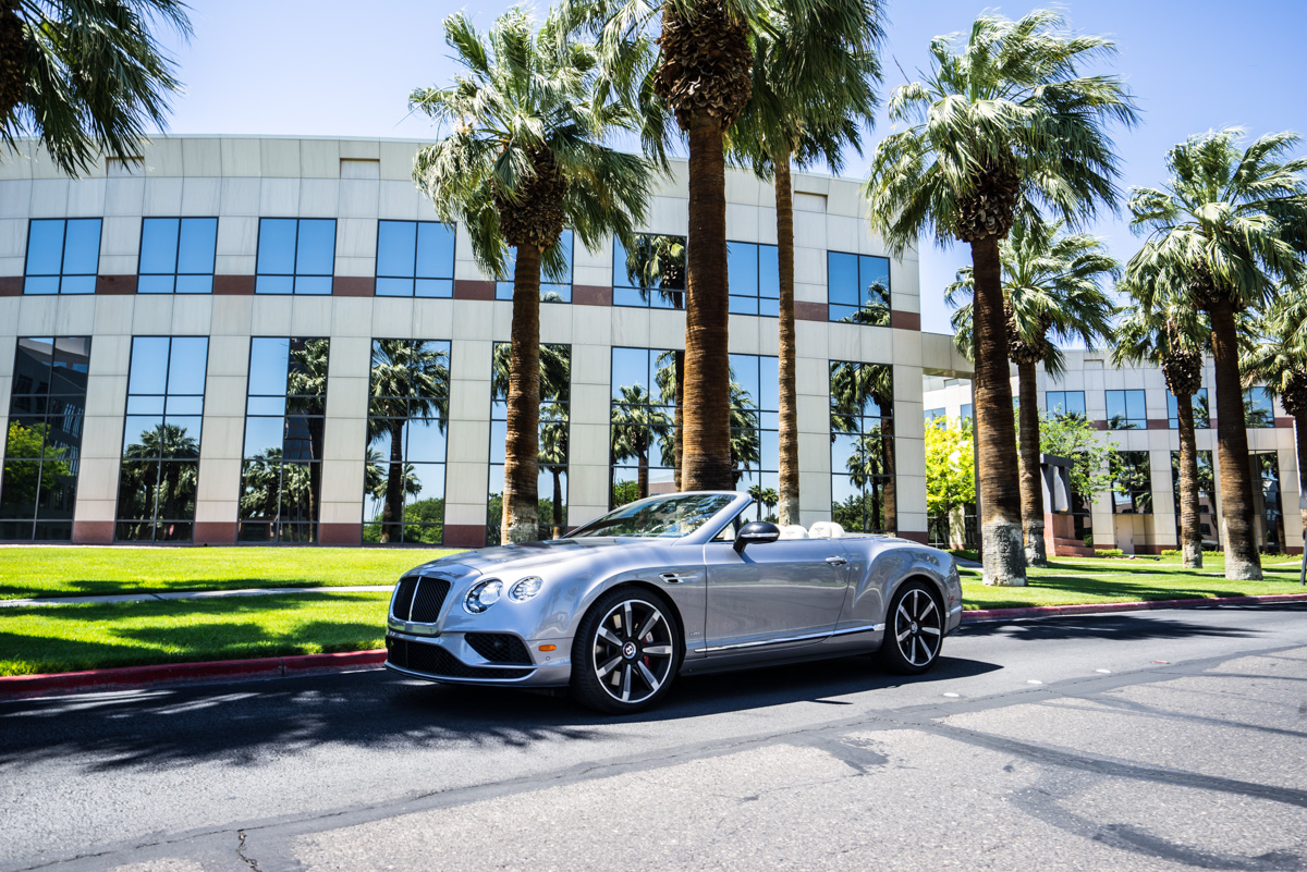 Cali To Vegas In The Bentley GTV8s Convertible 6