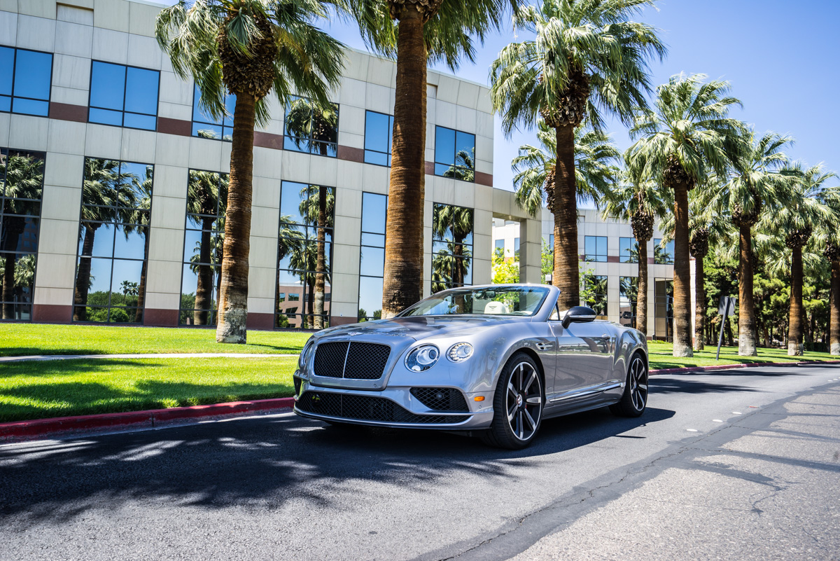 Cali To Vegas In The Bentley GTV8s Convertible 10