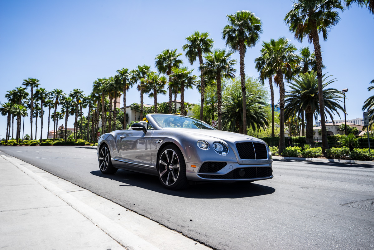 Cali To Vegas In The Bentley GTV8s Convertible 9