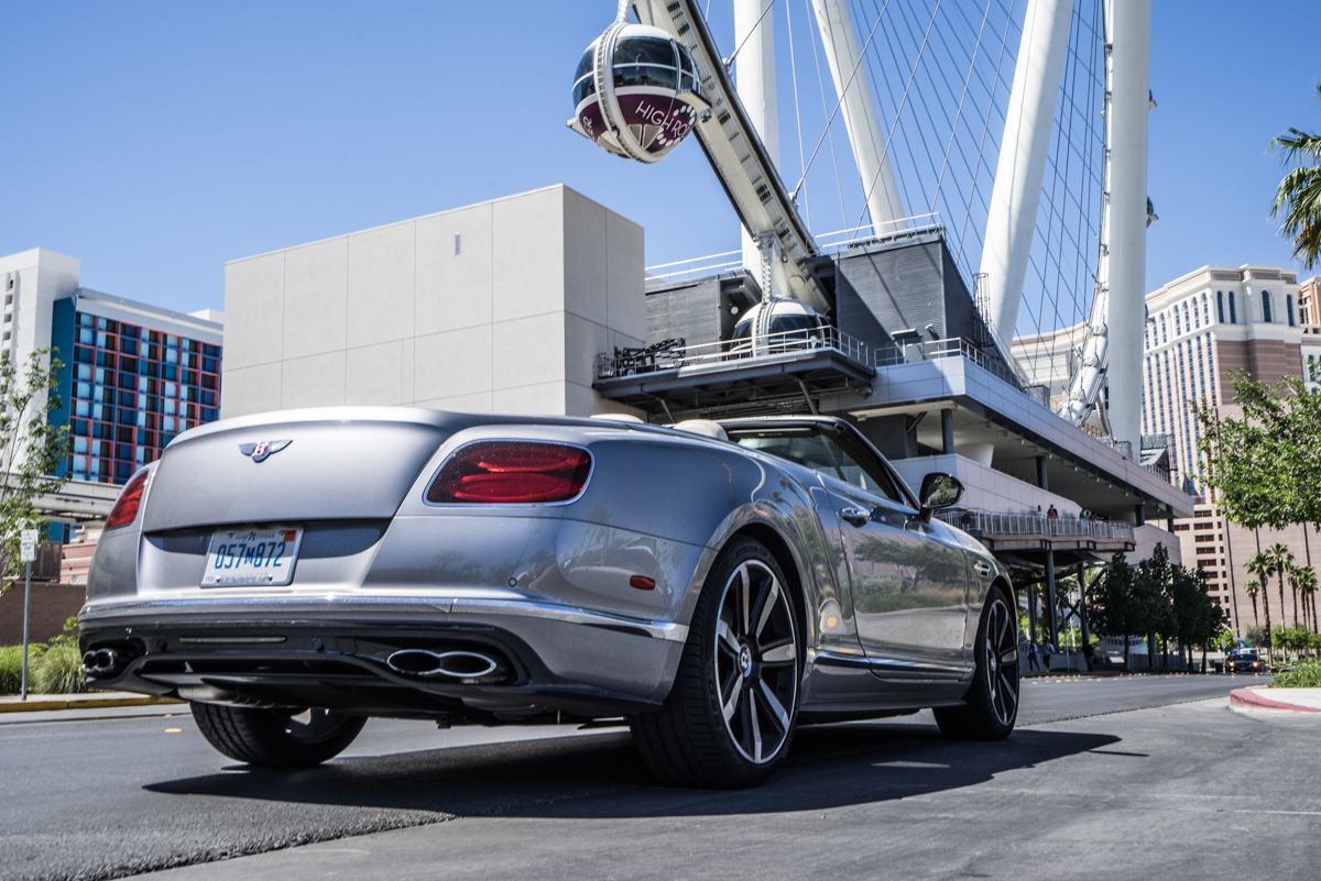 Cali To Vegas In The Bentley GTV8s Convertible 2