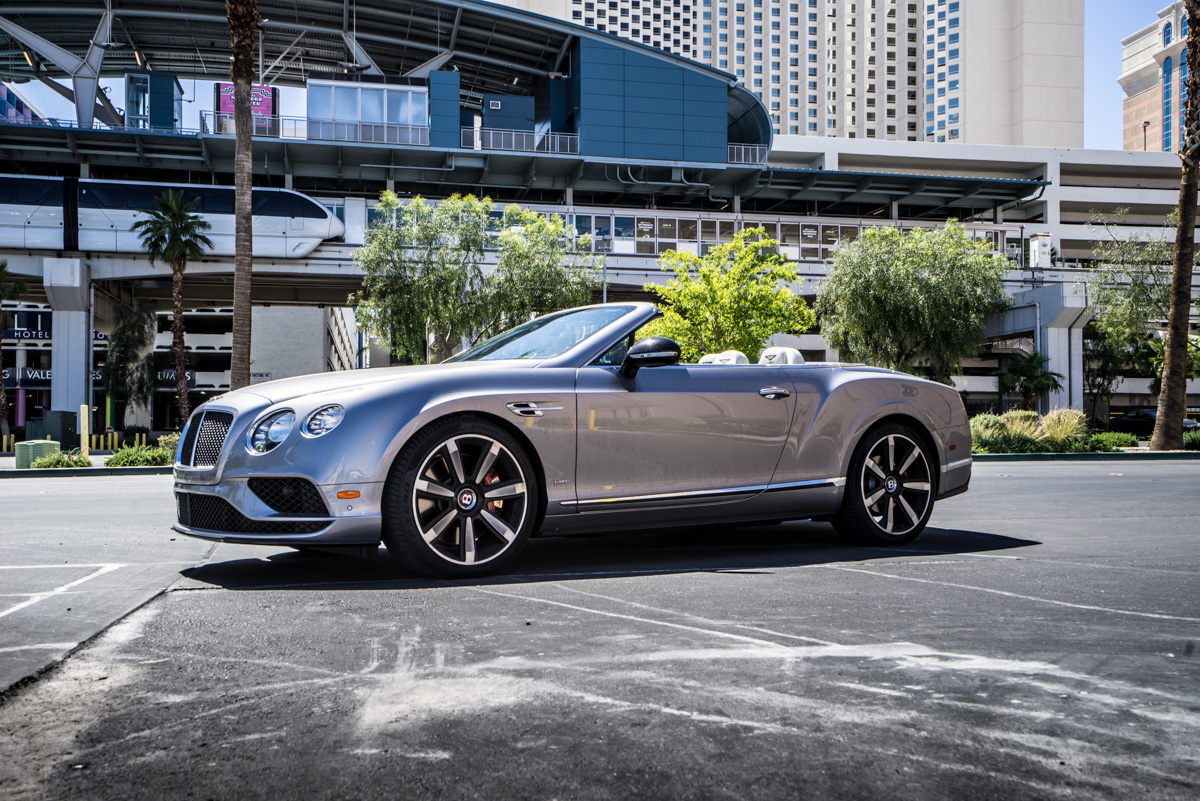 Cali To Vegas In The Bentley GTV8s Convertible 8