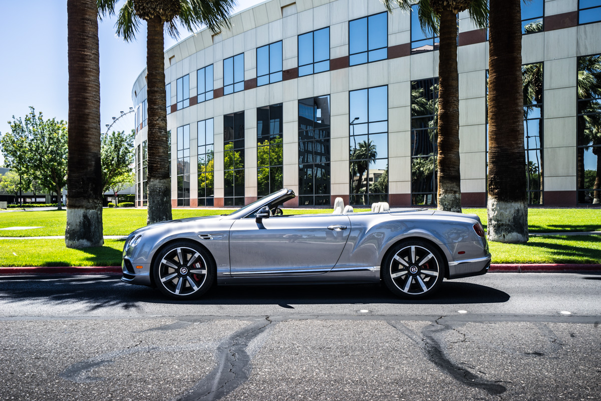 Cali To Vegas In The Bentley GTV8s Convertible 1