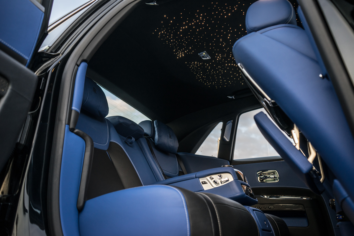 Disappearing Act in the Rolls-Royce Black Badge Ghost 13