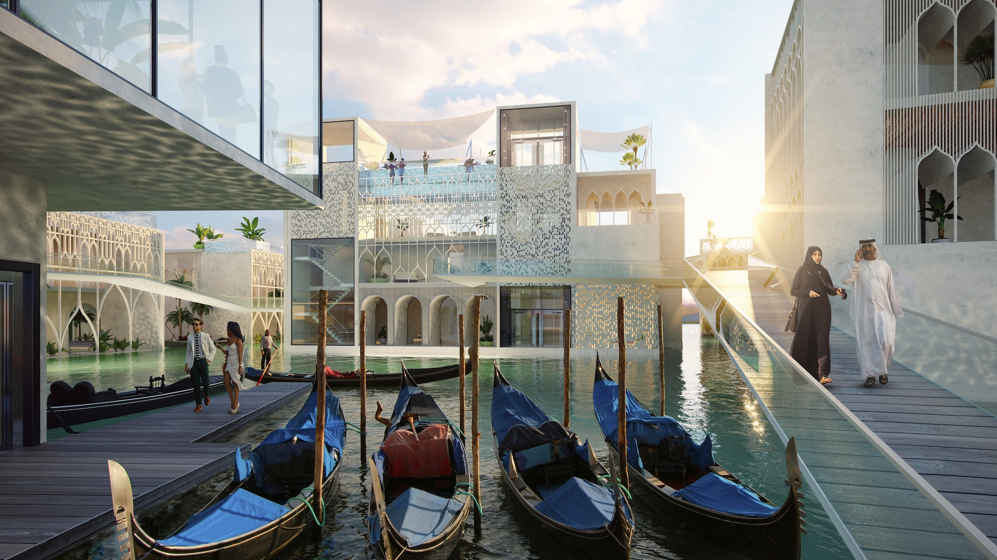 Venedig im Herzen von Dubai: The Floating Venice 1