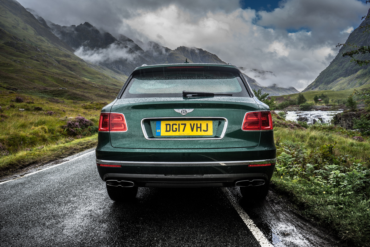 Highland Touring in The Bentley Bentayga Diesel 6