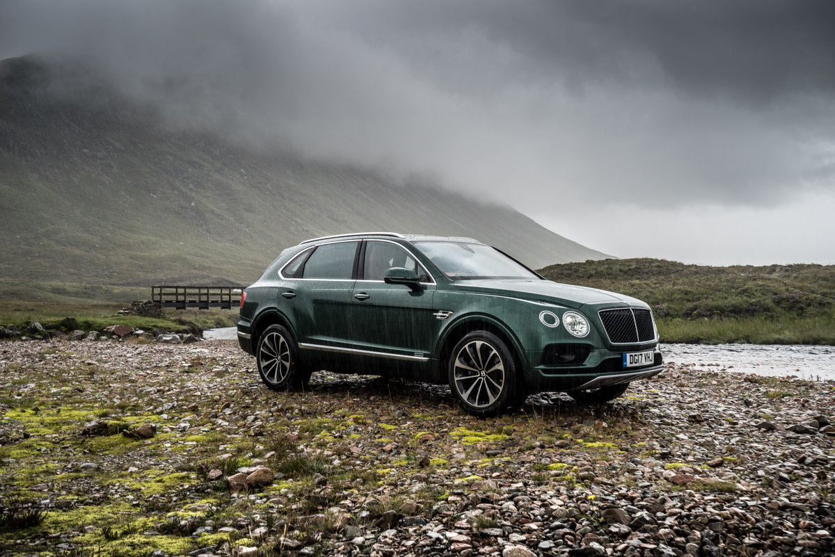 Highland Touring in The Bentley Bentayga Diesel 4