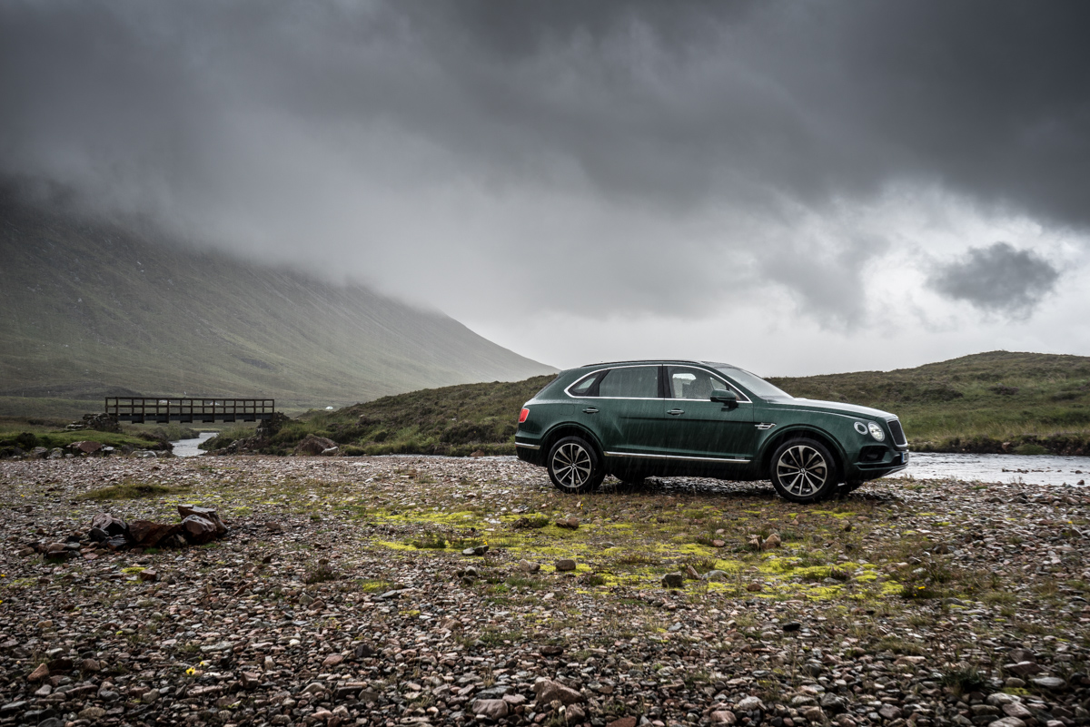Highland Touring in The Bentley Bentayga Diesel 10