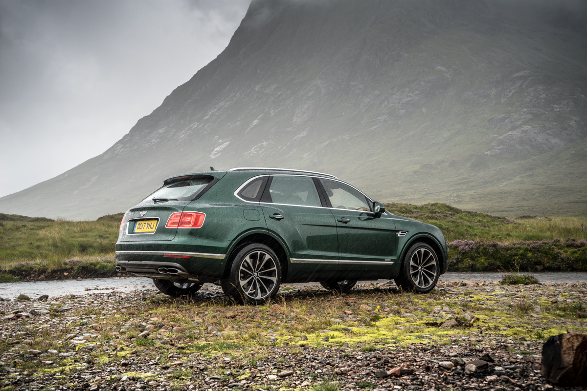 Highland Touring in The Bentley Bentayga Diesel 8