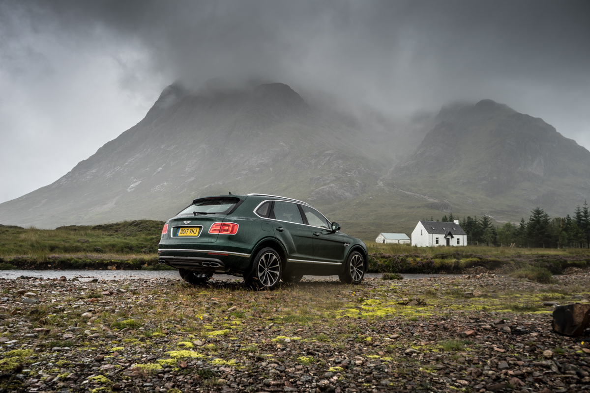 Highland Touring in The Bentley Bentayga Diesel 3