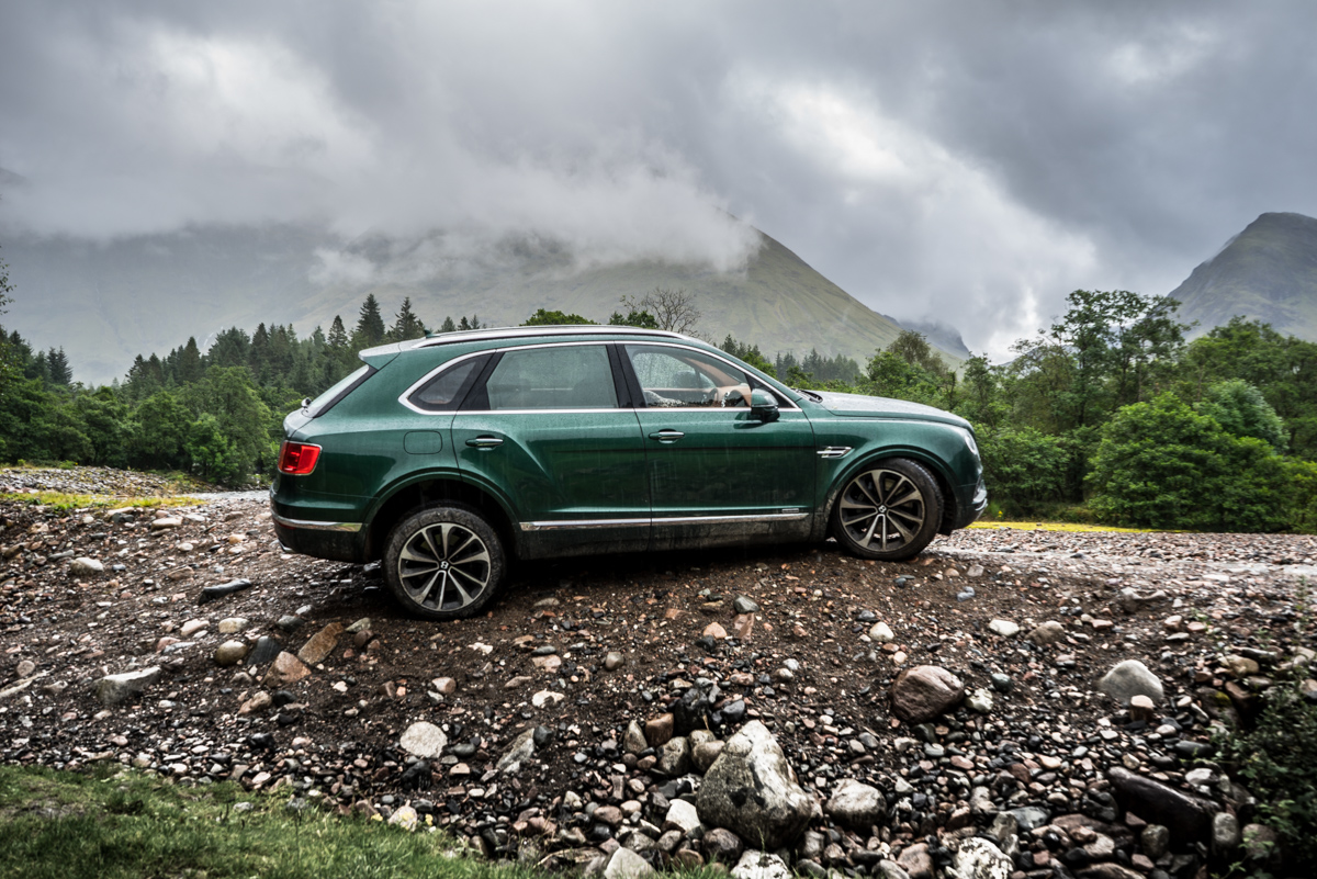 Highland Touring in The Bentley Bentayga Diesel 12