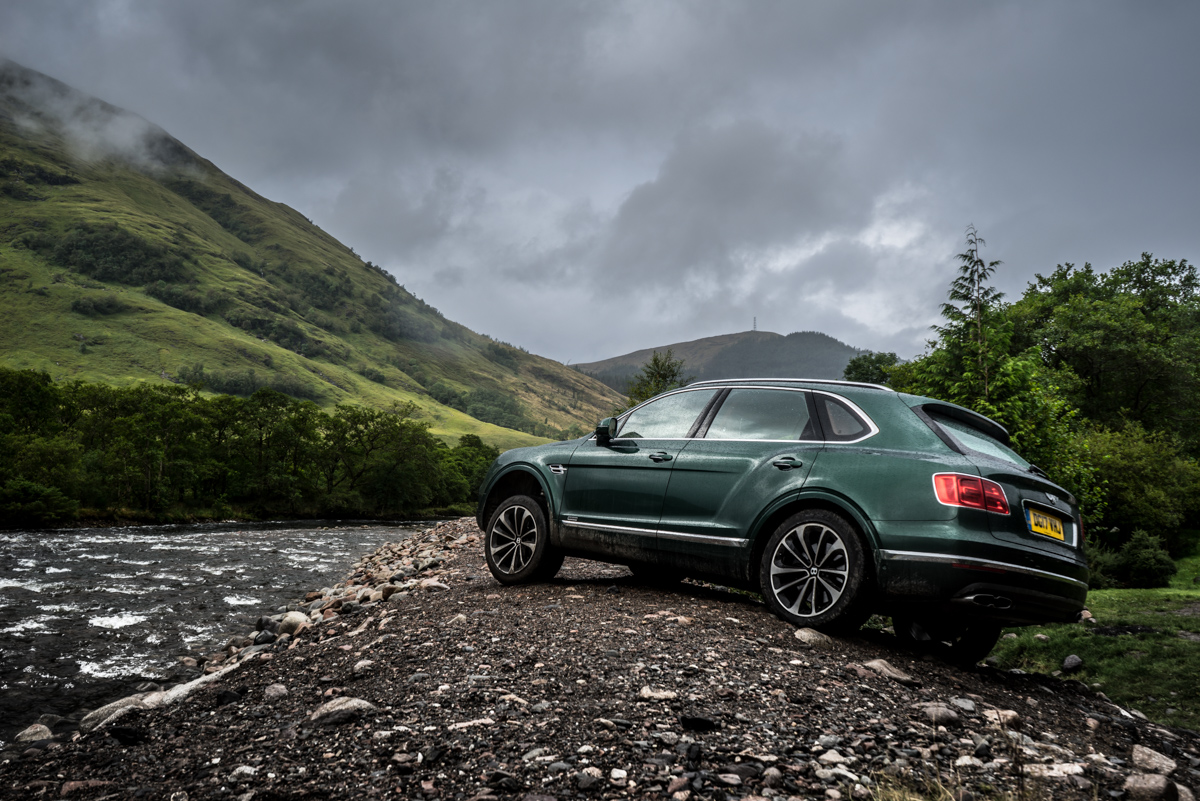 Highland Touring in The Bentley Bentayga Diesel 7