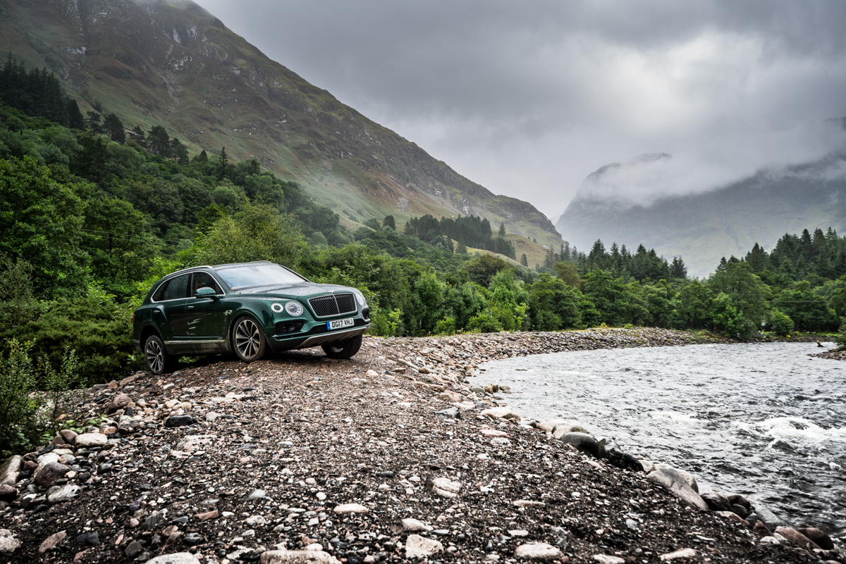 Highland Touring in The Bentley Bentayga Diesel 9