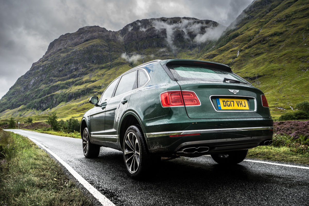 Highland Touring in The Bentley Bentayga Diesel 11