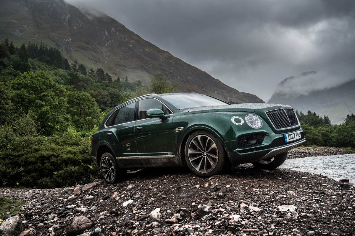Highland Touring in The Bentley Bentayga Diesel 1