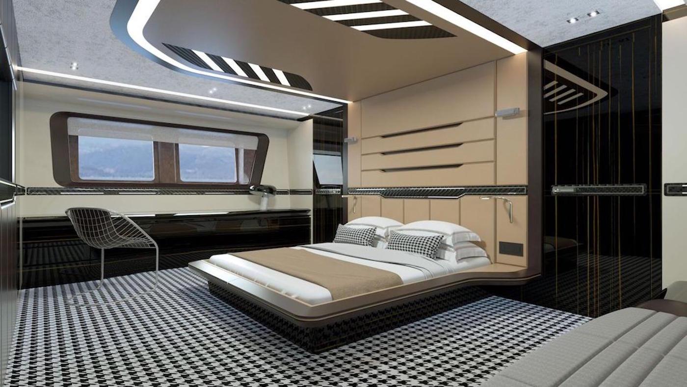 die porsche design hybrid superyacht feiert weltpremiere. Black Bedroom Furniture Sets. Home Design Ideas