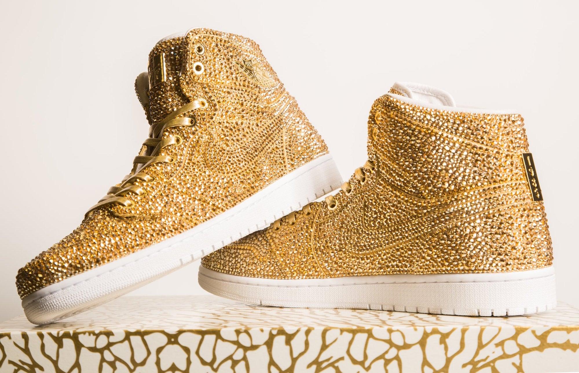 Daniel Jacob verziert Nike Air Jordans mit Swarovski Kristallen 1