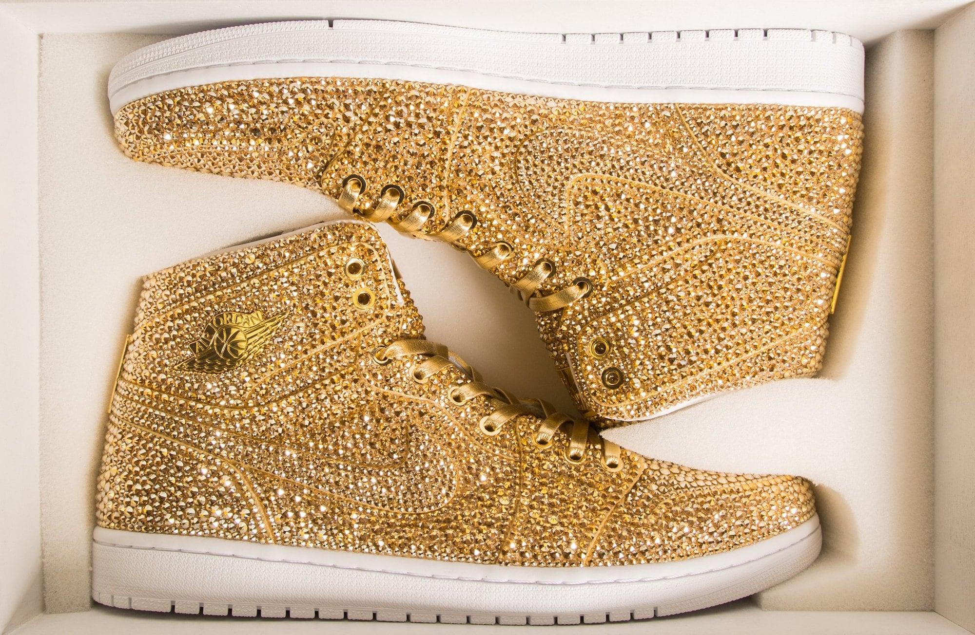 Daniel Jacob verziert Nike Air Jordans mit Swarovski Kristallen 4