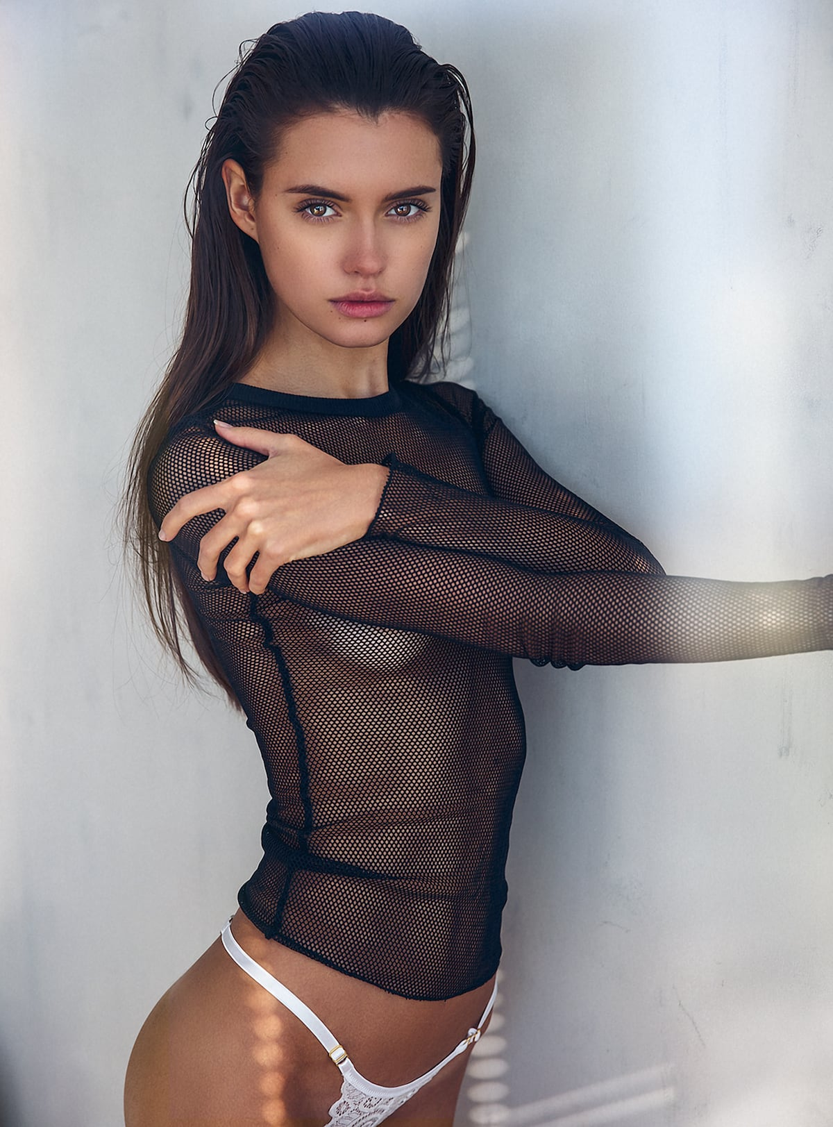 Beautiful Russian Girl Rolls Around