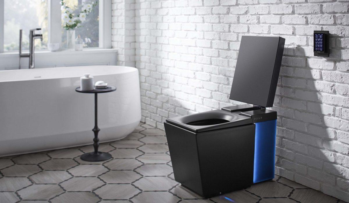 diese smart toilette von kohler kann musik spielen und den sitz w rmen. Black Bedroom Furniture Sets. Home Design Ideas